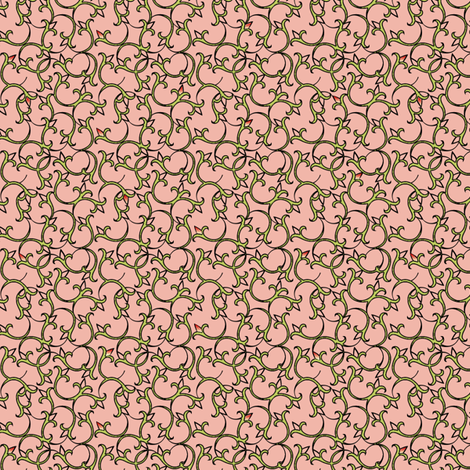 enlightened_peche fabric by glimmericks on Spoonflower - custom fabric