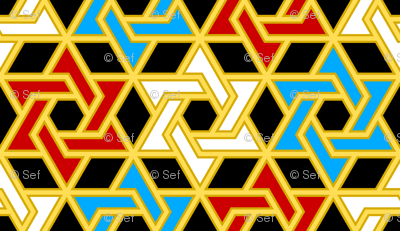 star of david - p6 filled