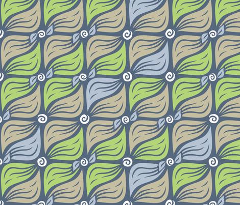 "Powderleaves (15"") fabric by penina on Spoonflower - custom fabric"