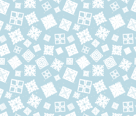 Paper snowflakes fabric by seabluestudio on Spoonflower - custom fabric