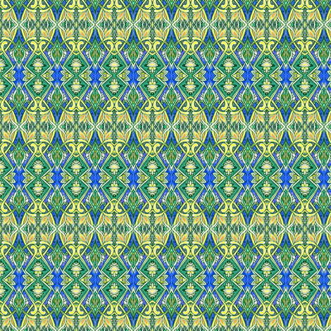 Colonial Egg Hunt (a formal vertical stripe in navy and green) fabric by edsel2084 on Spoonflower - custom fabric