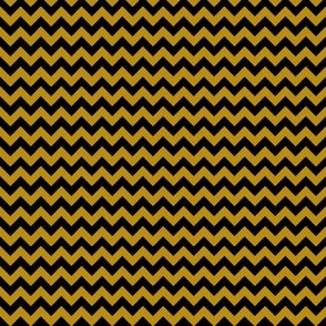 Black and Old Gold Chevron