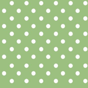 Fall Tango dark green dots