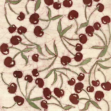 sweet cherries fabric by hooeybatiks on Spoonflower - custom fabric