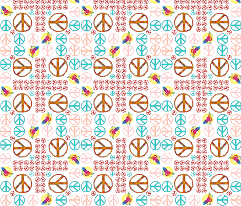 peace and people power fabric by spontaneouscombustion on Spoonflower - custom fabric