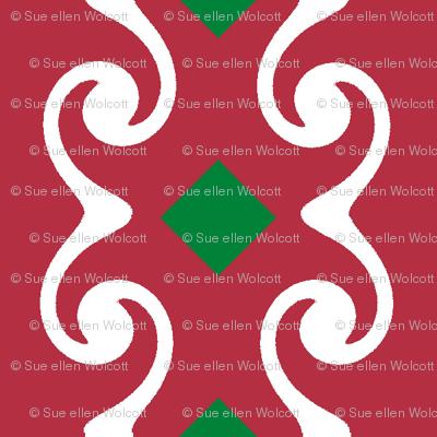 Swirly Stripes with Diamonds
