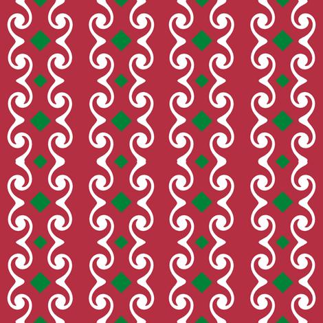 Swirly Stripes with Diamonds fabric by fireflower on Spoonflower - custom fabric