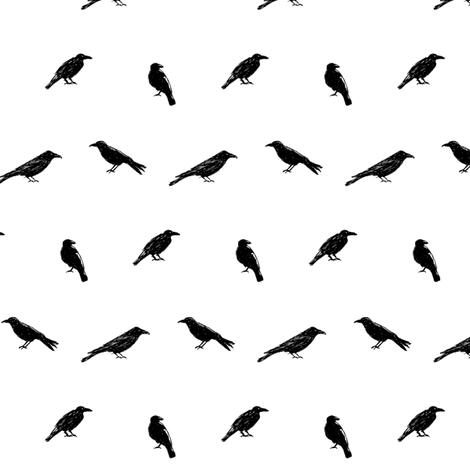 Scribble Goth - Crows