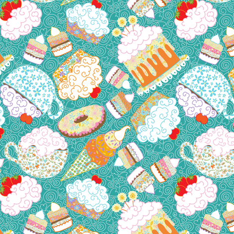 I can't live without my sweetie! fabric by vo_aka_virginiao on Spoonflower - custom fabric