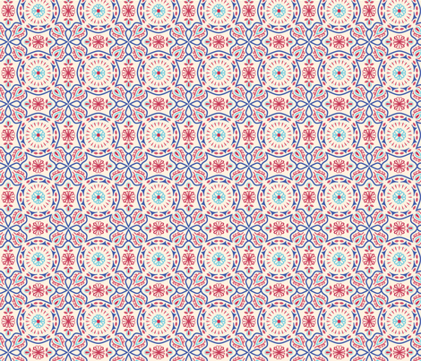 Colorful Vintage Pattern fabric by raindrop on Spoonflower - custom fabric