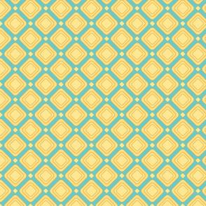 square in blue and orange