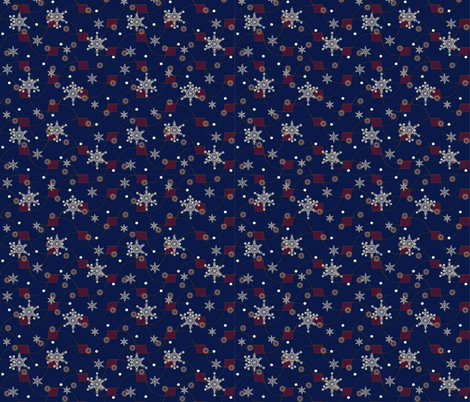 SPACE Snowflakes fabric by melachmulik on Spoonflower - custom fabric