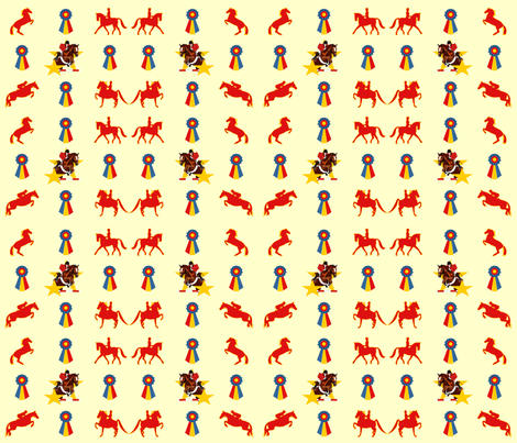 English_Show_Horses_and_Ribbons fabric by dehaan_designs on Spoonflower - custom fabric