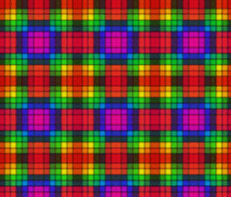 Rainbow Check fabric by glanoramay on Spoonflower - custom fabric