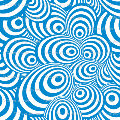 Psychedelic Zebra Blue