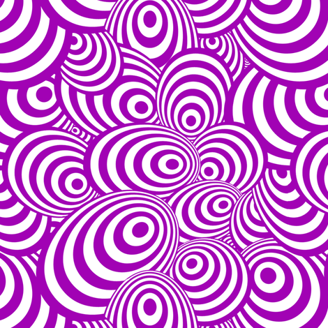 Psychedelic Zebra Purple fabric by glanoramay on Spoonflower - custom fabric