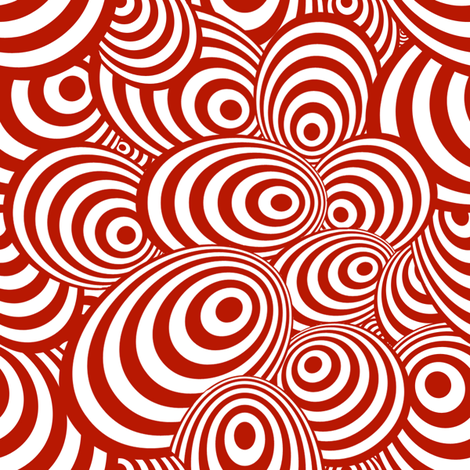 Psychedelic Zebra Red fabric by glanoramay on Spoonflower - custom fabric