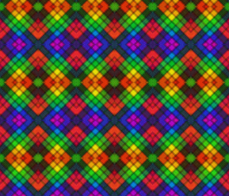 Rainbow Argyle fabric by glanoramay on Spoonflower - custom fabric