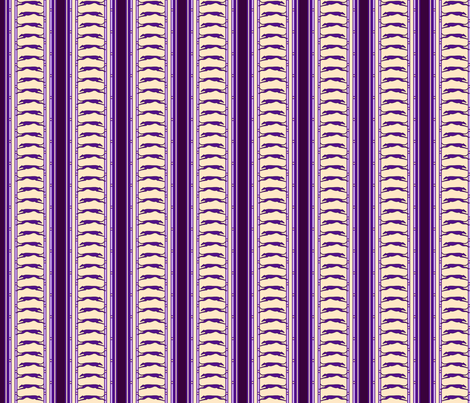 Running Greyhound Stripe buff purple  © 2012 by Jane Walker fabric by artbyjanewalker on Spoonflower - custom fabric