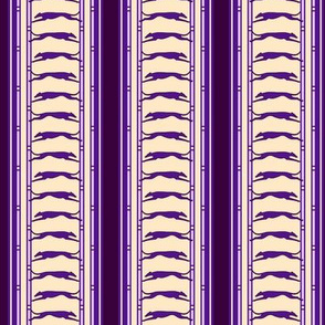 Running Greyhound Stripe buff purple  © 2012 by Jane Walker