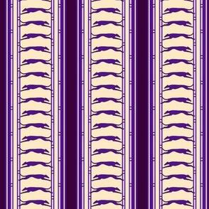 Running Greyhound Stripe buff purple  © 2012 by Jane Walker