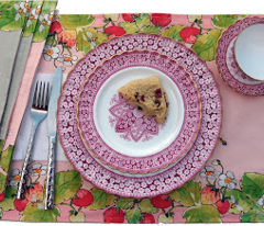 Five Reversible Placemats - Strawberries and Bees