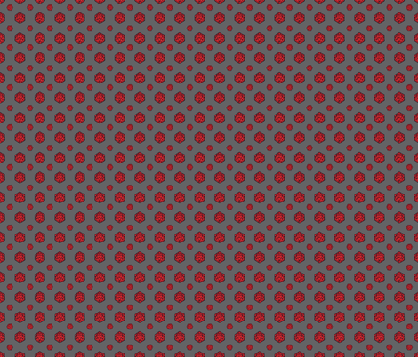 Red/Gray d20s fabric by pi-ratical on Spoonflower - custom fabric