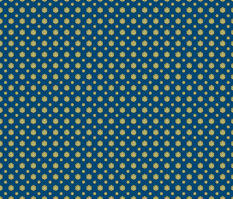 Navy/Yellow d20 fabric by pi-ratical on Spoonflower - custom fabric