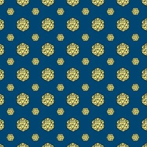 Navy/Yellow d20