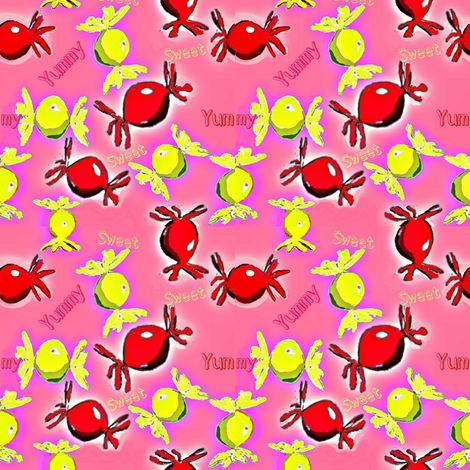 assorted candy favors fabric by dk_designs on Spoonflower - custom fabric