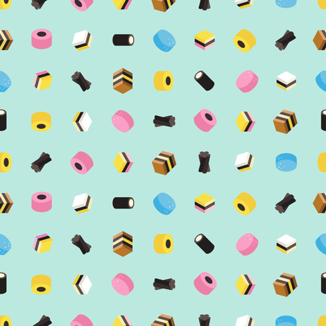 Old people candy. fabric by bucketface on Spoonflower - custom fabric
