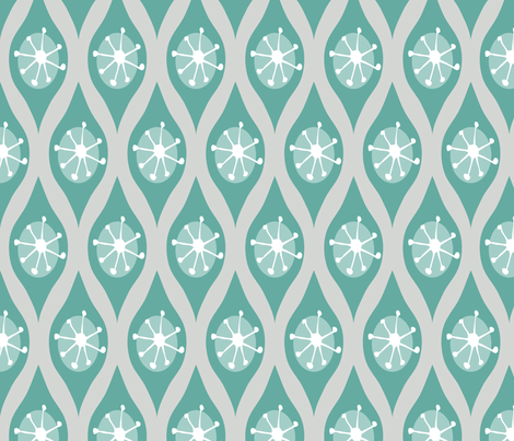 Modern Turquoise and Grey fabric by emilyannstudio on Spoonflower - custom fabric