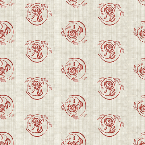 roses circles fabric by kirpa on Spoonflower - custom fabric