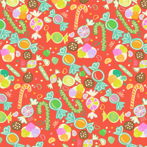 Holiday Sweet Treats fabric by gsonge on Spoonflower - custom fabric