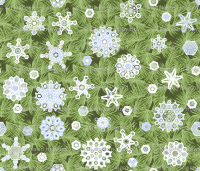 Snowflake_Shower_in_the_Pine