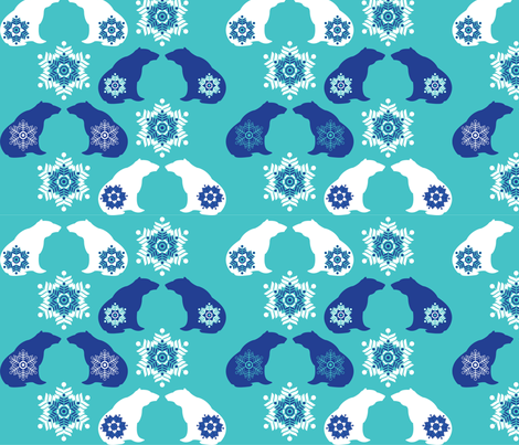 PolarBears fabric by colorthetree on Spoonflower - custom fabric