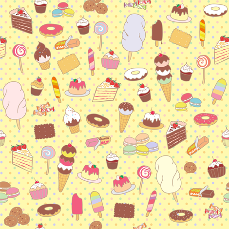 sweety_pastel fabric by maeli on Spoonflower - custom fabric