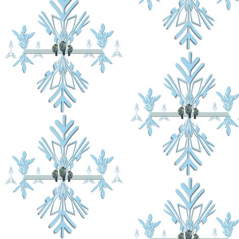 Birds on an Art Deco Line fabric by karenharveycox on Spoonflower - custom fabric