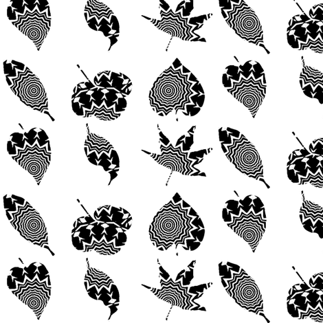 Zesty Zebra Z- Leaves 1 fabric by dovetail_designs on Spoonflower - custom fabric