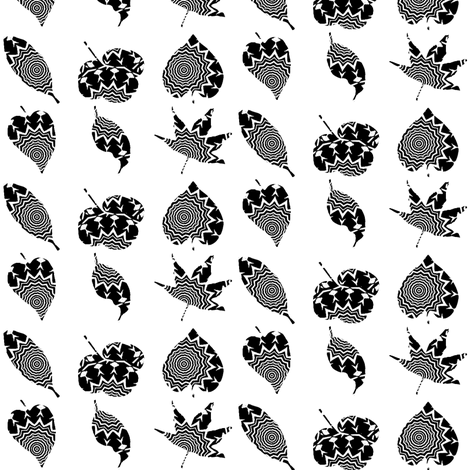 Zebra  Leaves 1 fabric by dovetail_designs on Spoonflower - custom fabric