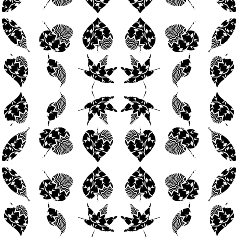 Zebra Leaves 2 fabric by dovetail_designs on Spoonflower - custom fabric