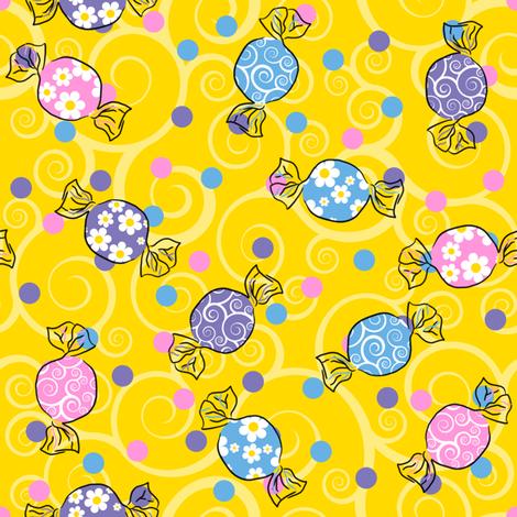 Sweetie Pie - Dark Yellow fabric by shelleymade on Spoonflower - custom fabric