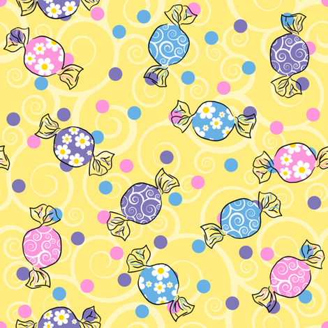 Sweetie Pie - Light Yellow fabric by shelleymade on Spoonflower - custom fabric