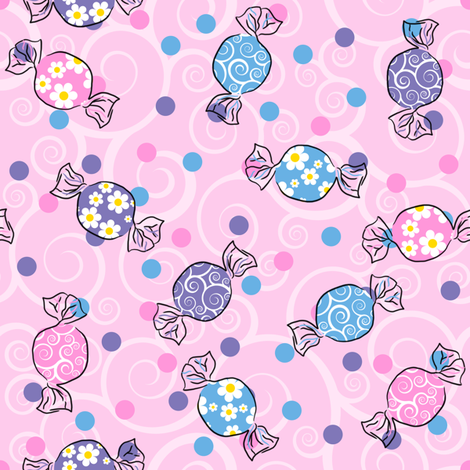 Sweetie Pie - Pink fabric by shelleymade on Spoonflower - custom fabric