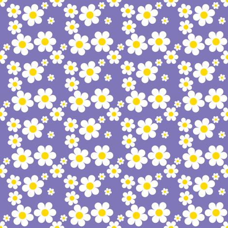 Sweetie Pie Daisy - Purple fabric by shelleymade on Spoonflower - custom fabric