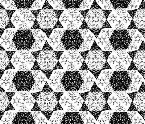 snowflake_cutouts fabric by the_bearded_lady on Spoonflower - custom fabric
