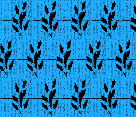 Wheat and Barbed Wire on Blue fabric by anniedeb on Spoonflower - custom fabric
