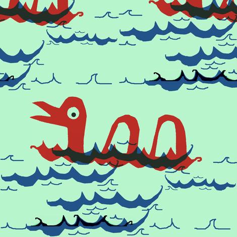 Sea Serpent fabric by boris_thumbkin on Spoonflower - custom fabric