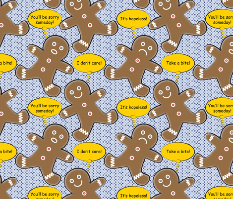 Pop Art Gingerbread Men fabric by mag-o on Spoonflower - custom fabric