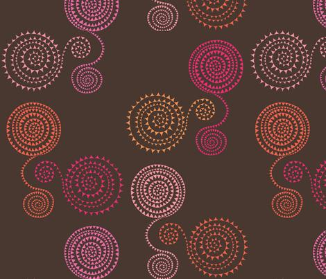arrowheadsonsilkthreadpinkorange fabric by creative_cat on Spoonflower - custom fabric